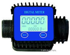 Electrónica Digital Medidor De Flujo Diesel Agua Aceite fluido Líquido Con Pantalla Lcd