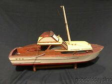 "Vintage 36"" Wood RC model  Motor boat Cruiser Custom Remote Control Chris Craft"