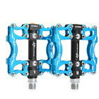 2015 RockBros Cycling Bike Pedals Sealed Bearing Pedals Blue Aluminum 9/16