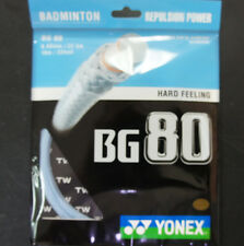 5 Packs Genuine Yonex Badminton String, BG-80, 10 m each, Sky Blue Made in Japan