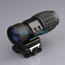 3X Magnifier Scope Sight Tactical with Flip To Side 20mm Rail Mount Scopes