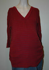 Oh Baby By Motherhood Maternity Stripped Shirt Size L Large