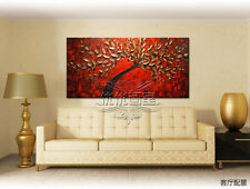 MODERN ABSTRACT CANVAS OIL PAINTING WALL DECOR:tree(with framed)