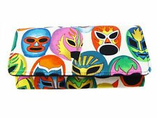 MASCARAS DE PELEA  LATINO PATTERN  USA HANDMADE WOMAN WALLET COTTON, NEW , RARE