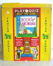 1940s Trojan Games PLAY QUIZ Beat The Gong BOOK OF KNOWLEDGE Board Game FREE SH