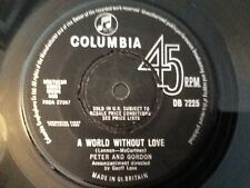 PETER AND GORDON . WORLD WITHOUT LOVE  .  U.K. No.1 . 1964 LENNON AND McCARTNEY
