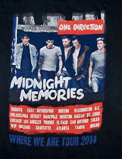 1D MIDNIGHT MEMORIES / ONE DIRECTION / WHERE WE ARE TOUR 2014 / BLACK T-SHIRT M