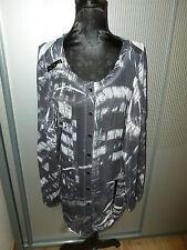 Kleid Shirt Bluse schwarz weiß Biba Crisca 36 S
