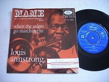 w PICTURE SLEEVE Louis Armstrong Mame 1966 Import 45rpm VG++ w juke box strip