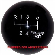 F-in Fast Black -L 6 Speed Shift Knob 3/8-16 thread U.S. Made