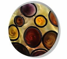 Gold/Yellow/Red Modern Abstract Metal Wall Art Home Decor - Stepping Stones