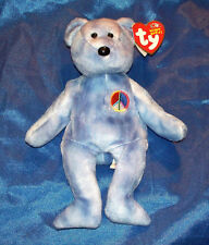 Ty Beanie Baby 2003 Peace Bear with Tag Retired
