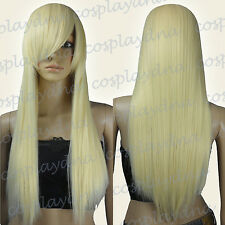 28 inch Hi_Temp Series Light Golden Blonde Long Cosplay DNA Wigs 76LGB