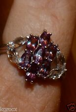 2.65 CTW MARQUEE LAB RUSSIAN  ALEXANDRITE & TOPAZ STERLING DESIGNER RING 10