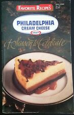Favorite Recipes Philadelphia Cream Cheese Kraft Seasons To Celebrate 1990