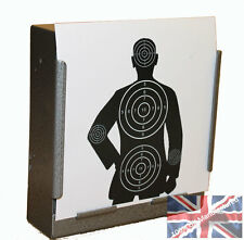 100 Air Rifle Police Training Paper Targets 14cm Pistol Gun  (100gsm uk made