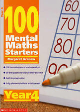 100 Mental Maths Starters year 4, Gronow, Margaret, Very Good condition, Book