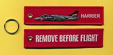 Harrier Remove Before Flight embroidered Key Ring - New