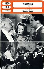 Fiche Cinéma. Movie Card. Vacances / Holiday (USA) George Cukor 1938
