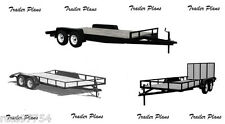 (3 Sets) Trailer Plans-8x18 Car Trailer Plus 8x18 & 7x14 Utility Trailers. #1