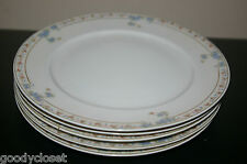 LOT OF 6 N & CO. NAGOYA NIPPON BLUE FLORAL DESIGN SALAD/DESSERT PLATES 1920'S