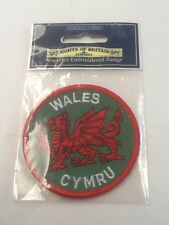 SIGHTS OF BRITAIN Souvenir Embroidered Badge WALES CYMRU NEW