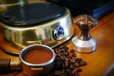 Espresso Tamper  Brushed Solid aluminum  Base 49 mm for La Pavoni and others