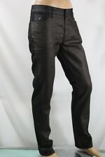 100% AUTHENTIC GUESS MEN'S JEANS SLIM STRAIGHT BLACK & BROWN SZ 34 INSEAM 34