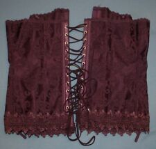 Fredericks of Hollywood Purple Corset Top Sz 38 Bustiers Lace Up Boning Lace
