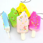 Squishy Sprinkles Popsicle Phone Straps Soft Bread Scented Key Chain Kids Gift 8