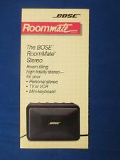 BOSE ROOM MATE STEREO SPEAKER SALES BROCHURE ORIGINAL FACTORY ISSUE