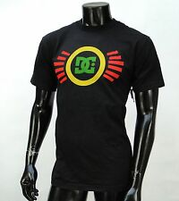 Dc shoes Team Usa skateboard Rasta Classic mens Black t shirt Small