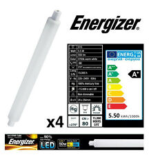 4x S15 5.5w (=50w) LED Strip Light Tube 284mm Frosted Opal (Energizer S9218)
