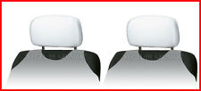 2 X HEADREST PROTECTIVE COVERS CAR for Honda  - white universal