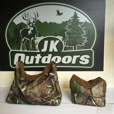 Camo Real Tree Front & Back Shooting Rest Bag Airgun Air Rifle Gun Bench rest