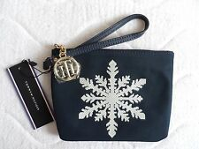 TOMMY HILFIGER Navy UTILITY POUCH & STRAP Make Up Mobile Travel Bag Purse