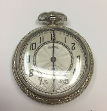 Vintage Illinois Watch Co. Pocket Watch - 14K White Gold Filled case