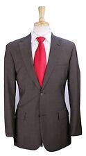 * HUGO BOSS * Recent Pasolini/Movie Model Solid Brown 2-Btn Wool Suit 36R