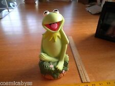 "The Muppets Applause Kermit the frog 9"" vinyl coin bank"