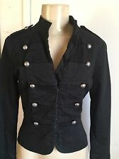 blk Forever 21 military jacket circus carnival gothic punk xmas gift S