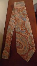 BRIONI HANDMADE LUXURY  MEN'S 100%SILK  PAISLEY NECK TIE ITALY