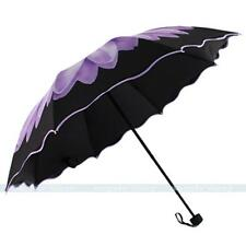 Purple Windproof Anti UV/Sun/Rain Folding Umbrella Daisy Flower Parasol Umbrella