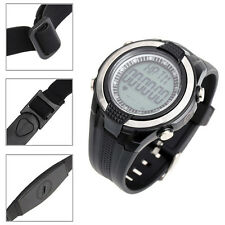 Waterproof Digital Heart Rate Monitor Sport Running Watch + Wireless Chest Strap