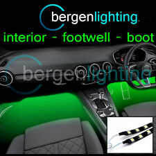 2X 375MM GREEN INTERIOR UNDER DASH/SEAT 12V SMD5050 DRL MOOD LIGHTING STRIPS