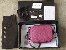 NEW Gucci Bree Guccissima Leather mini messenger Bag, dusty rose