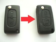 SILICON KEY CASE COVER FOR CITROEN C2 C3 BERLINGO 2 BUTTON REMOTE FLIP KEY FOB