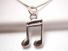 Musical Note Pendant 925 Sterling Silver Corona Sun Jewelry Eighth Note musician