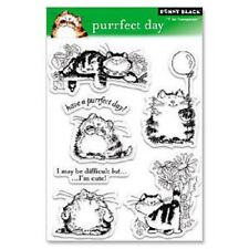 PENNY BLACK RUBBER STAMPS CLEAR PURRFECT DAY CAT SET