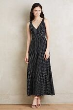 "NWT $178.00 Anthropologie Clipdot Maxi Dress by Eva Franco Sz. 8 ""Black & White"""
