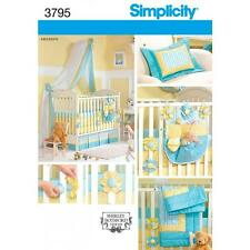 SIMPLICITY SEWING PATTERN NURSEY ACCESSORIES BUMPERS ORGANIZER CANOPY QUILT 3795